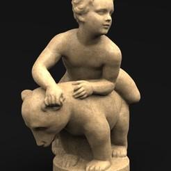 Boy_and_Bear_01_KEY.jpg Download free OBJ file Boy and Bear 3D Model • 3D printing design, DavidG7