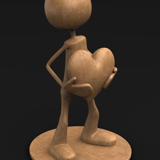 Download free OBJ file Character Love 3D Model • 3D printing design, DavidG7