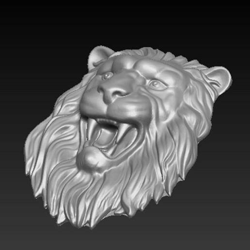 Lion_Relief_04.jpg Download free OBJ file Lion Relief 3D Model • 3D printable template, DavidG7
