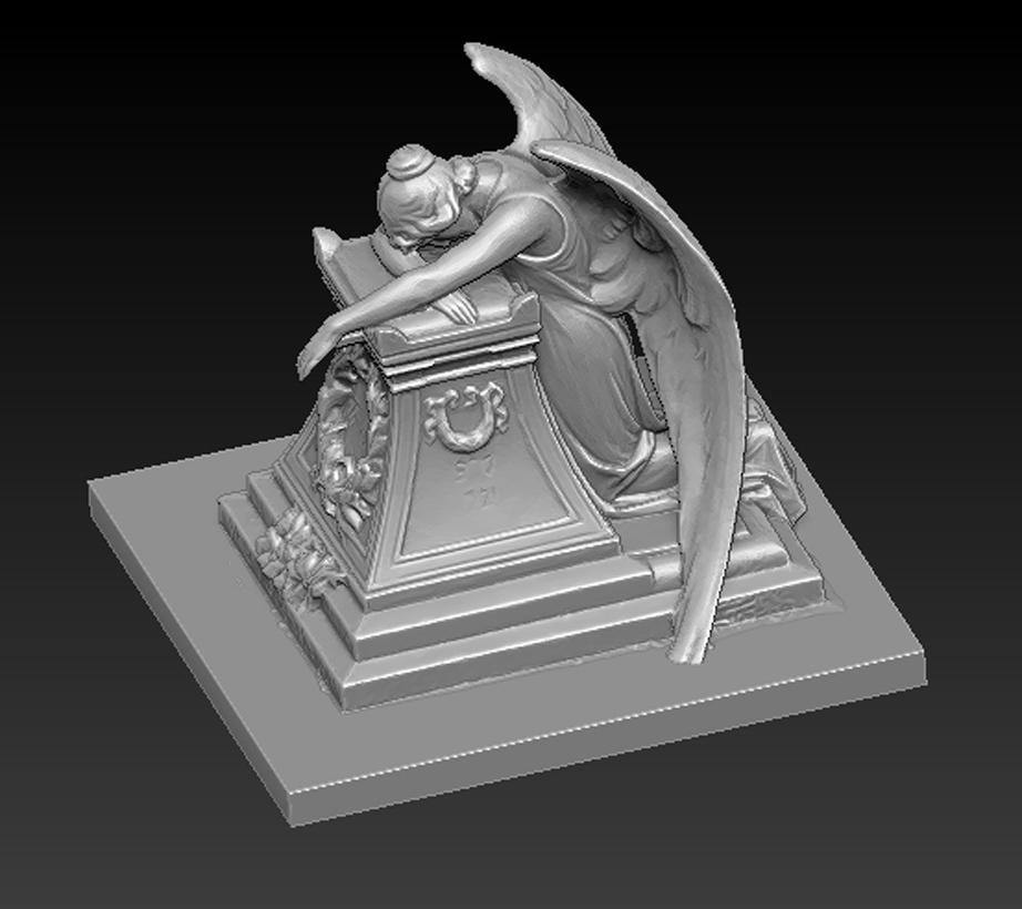 Angel_03.jpg Download free OBJ file Angel Statue 2 3D Model • 3D printer template, DavidG7