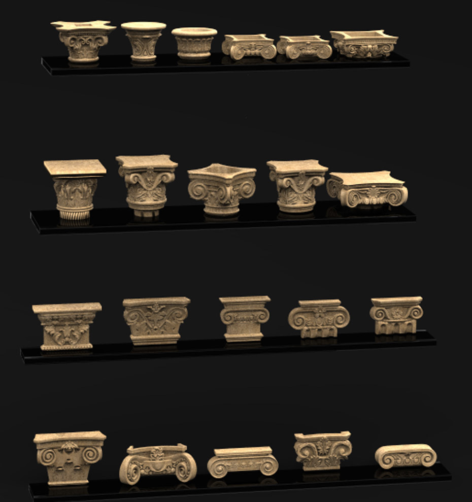 Pack_02_KEY.jpg Download free STL file Pack Columns 3D Model • 3D printing template, DavidG7