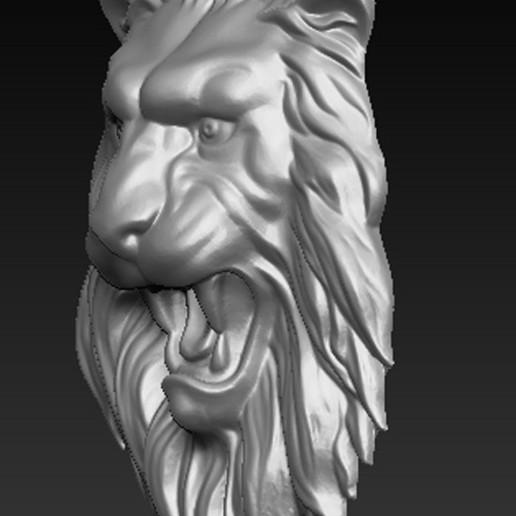 Lion_Relief_02.jpg Download free OBJ file Lion Relief 3D Model • 3D printable template, DavidG7