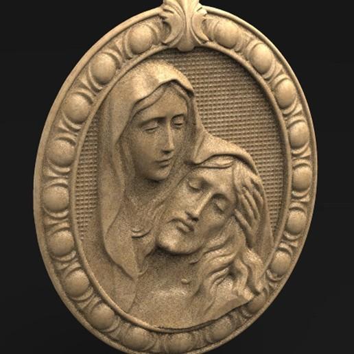 Télécharger fichier OBJ gratuit Modèle 3D de Jésus-Christ Maria • Modèle pour imprimante 3D, DavidG7