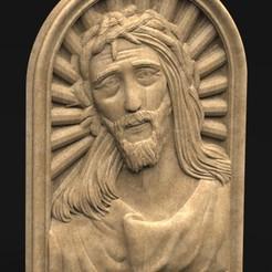 Face_of_Christ_01_KEY.jpg Download free STL file Face of Christ 3D Relief • 3D printing design, DavidG7