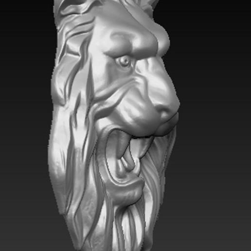 Lion_Relief_03.jpg Download free OBJ file Lion Relief 3D Model • 3D printable template, DavidG7