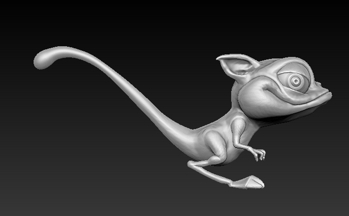 Cgaracter_01.jpg Download free OBJ file Character Kangaroo 3D Model • Object to 3D print, DavidG7