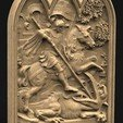 Saint_George_01_KEY.jpg Download free STL file Saint George 3D Relief • 3D printer design, DavidG7