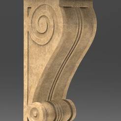 Download free STL files Architectural Decorative Corbel 3 3D Model, DavidG7