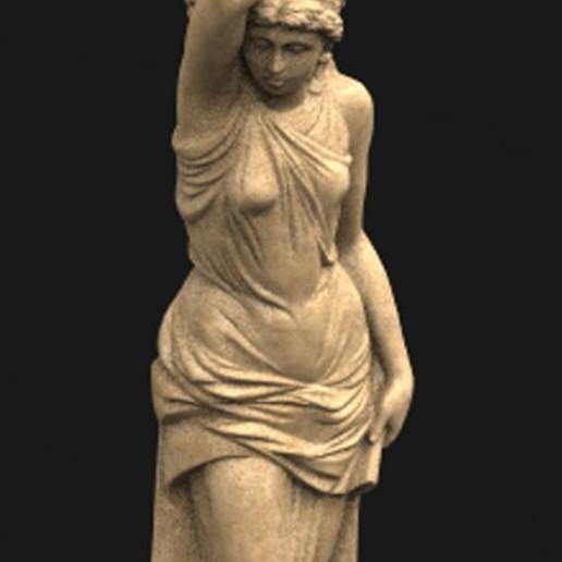 Télécharger fichier OBJ gratuit Modèle 3D de marbre décoratif 6 femme en corbeille • Modèle pour imprimante 3D, DavidG7