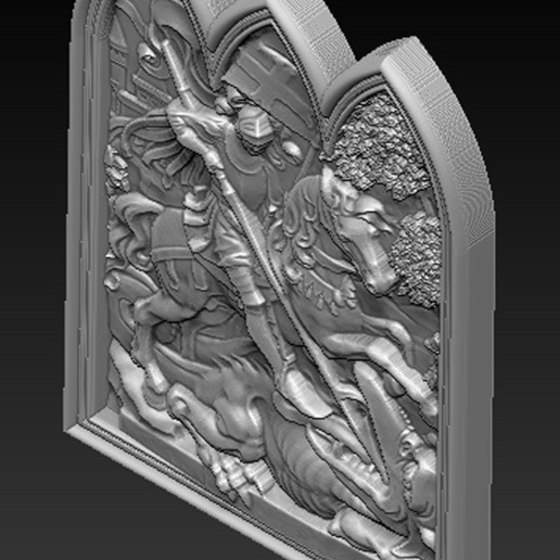 Saint_George_03.jpg Download free STL file Saint George 3D Relief • 3D printer design, DavidG7