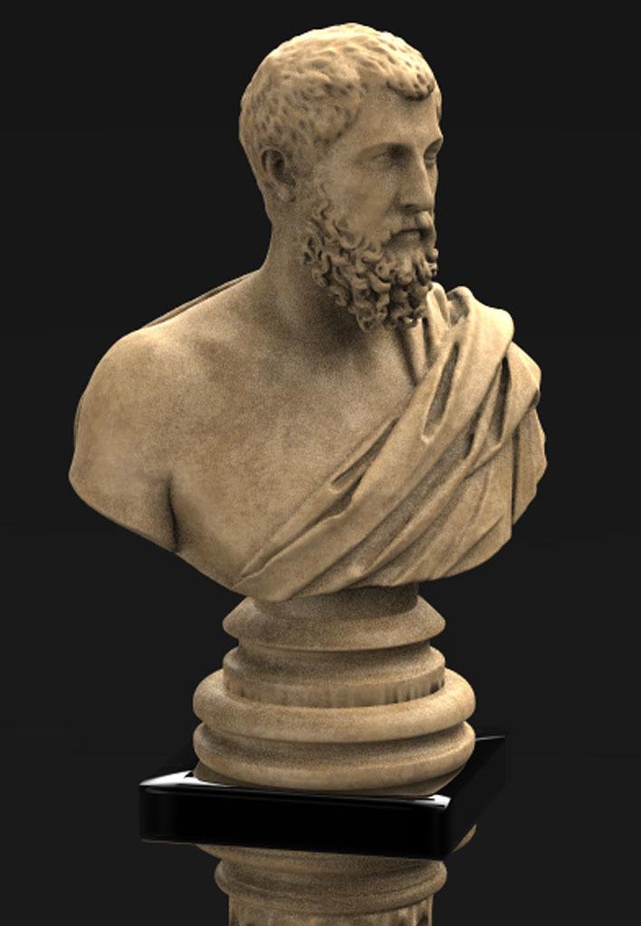 Roman_bust_01_KEY.jpg Download free OBJ file Roman Bust 3D Model • 3D print object, DavidG7