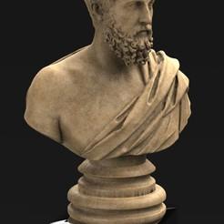 Roman_bust_01_KEY.jpg Télécharger fichier OBJ gratuit Modèle 3D du buste romain • Design pour imprimante 3D, DavidG7