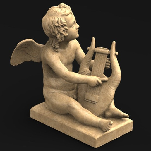 Download free STL file Angel Cupid 3D Model • 3D print model, DavidG7