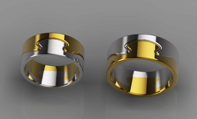 Ring_01_KEY.jpg Télécharger fichier OBJ gratuit Modèle 3D des anneaux • Objet à imprimer en 3D, DavidG7