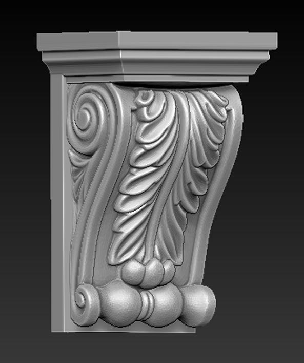 Architectural_Decorative_01.jpg Télécharger fichier OBJ gratuit Modèle 3D du corbeau architectural décoratif 8 • Plan pour impression 3D, DavidG7