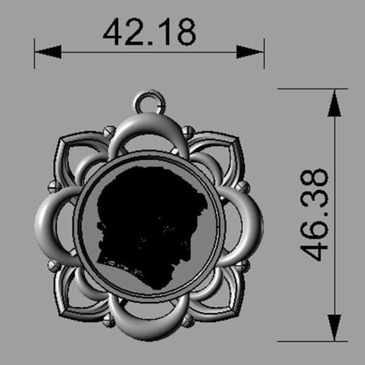 Pendant_Christ_05.jpg Télécharger fichier STL gratuit Pendentif Visage du Christ Modèle 3D • Design pour imprimante 3D, DavidG7