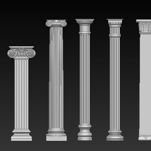 Pack_01.jpg Download free STL file Pack Columns 3D Model • 3D printing template, DavidG7