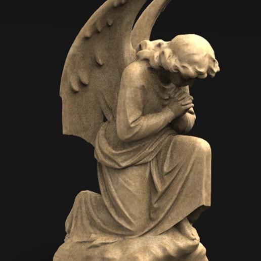 Télécharger fichier OBJ gratuit Modèle 3D de la Statue de l'Ange 3 • Plan pour imprimante 3D, DavidG7