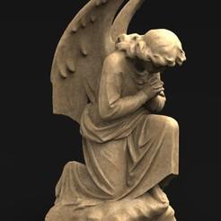 Angel_01_KEY.jpg Download free OBJ file Angel Statue 3 3D Model • 3D printing template, DavidG7
