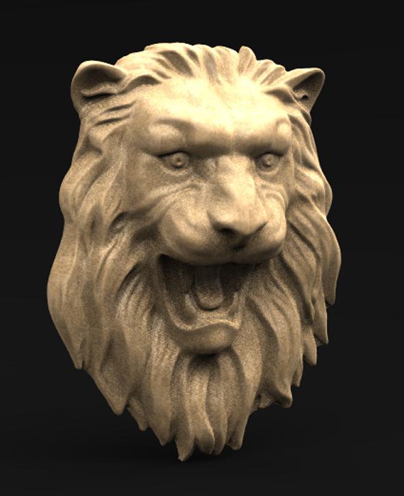 Lion_Relief_01_KEY.jpg Download free OBJ file Lion Relief 3D Model • 3D printable template, DavidG7