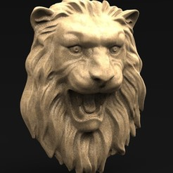 Download free OBJ file Lion Relief 3D Model • 3D printable template, DavidG7