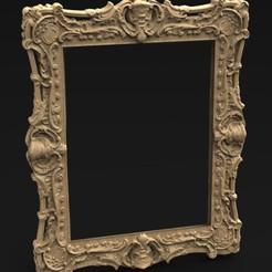 Frame_KEY.jpg Télécharger fichier OBJ gratuit Modèle 3D Frame Relief 7 • Objet pour impression 3D, DavidG7