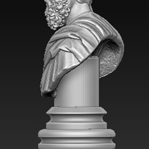 Roman_bust_03.jpg Download free OBJ file Roman Bust 3D Model • 3D print object, DavidG7