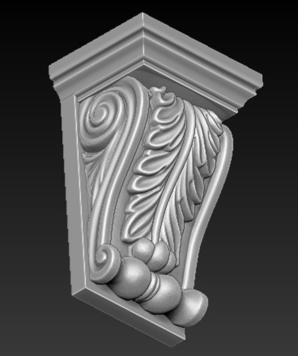 Architectural_Decorative_03.jpg Télécharger fichier OBJ gratuit Modèle 3D du corbeau architectural décoratif 8 • Plan pour impression 3D, DavidG7
