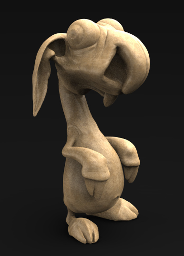 Character_01_KEY.jpg Download free OBJ file Character Rabbit 3D Model • 3D printing object, DavidG7