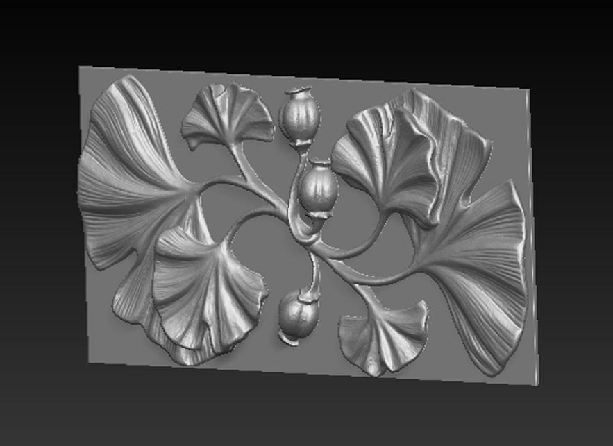 Decorative_Flowers_02.jpg Télécharger fichier OBJ gratuit Modèle 3D de panneau décoratif de fleurs • Design imprimable en 3D, DavidG7