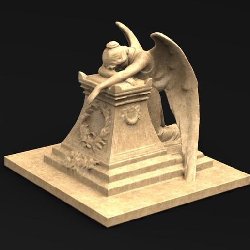 Angel_01_KEY.jpg Download free OBJ file Angel Statue 2 3D Model • 3D printer template, DavidG7