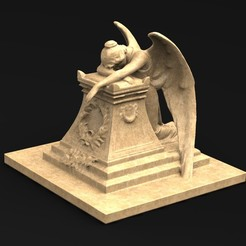 Download free OBJ file Angel Statue 2 3D Model • 3D printer template, DavidG7