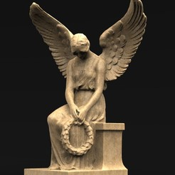Download free OBJ file Angel Statue 1 3D Model • 3D print template, DavidG7