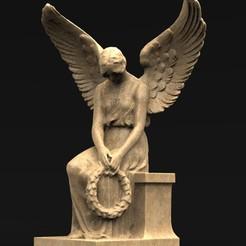 Angel_01_KEY.jpg Télécharger fichier OBJ gratuit Modèle 3D de la statue de l'ange 1 • Design à imprimer en 3D, DavidG7
