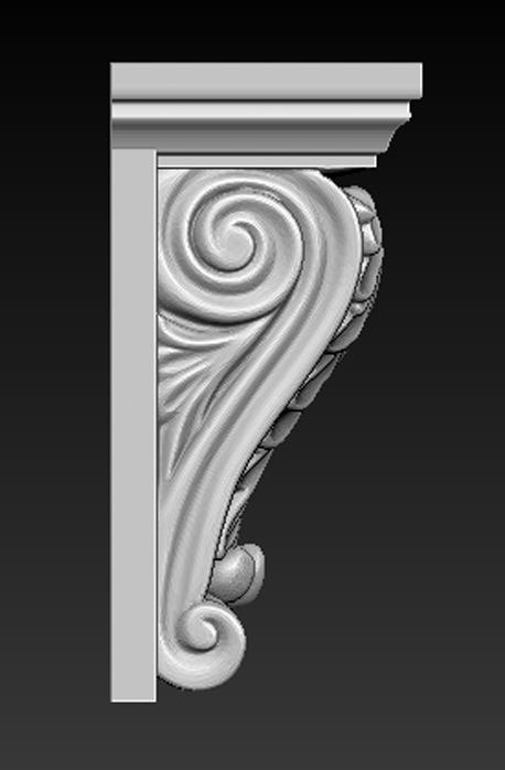 Architectural_Decorative_02.jpg Télécharger fichier OBJ gratuit Modèle 3D du corbeau architectural décoratif 8 • Plan pour impression 3D, DavidG7