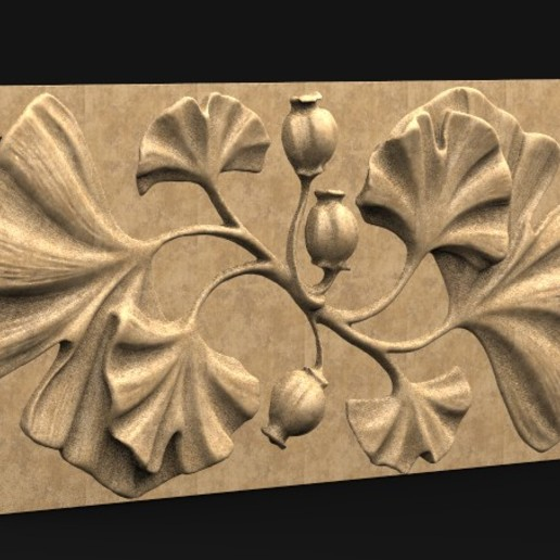 Decorative_Flowers_01_KEY.jpg Télécharger fichier OBJ gratuit Modèle 3D de panneau décoratif de fleurs • Design imprimable en 3D, DavidG7