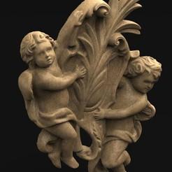 Angel_Relief_KEY.jpg Télécharger fichier OBJ gratuit Modèle 3D d'Angel Relief • Objet pour impression 3D, DavidG7