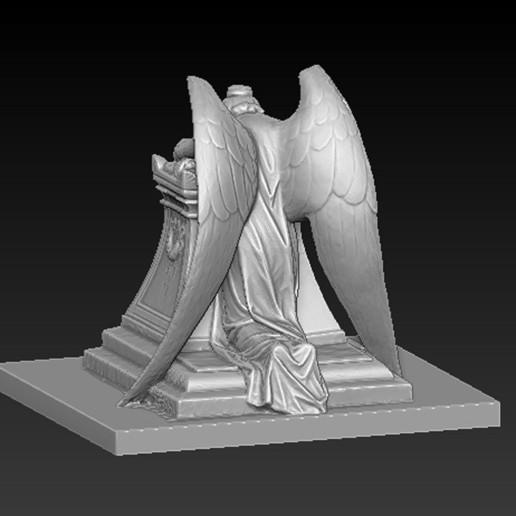 Angel_04.jpg Download free OBJ file Angel Statue 2 3D Model • 3D printer template, DavidG7