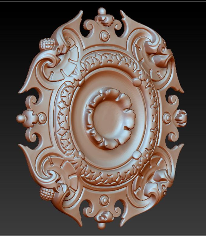 Celing_04.jpg Download free STL file Pack Ceiling Lamps Molding 3D Model • 3D printer model, DavidG7