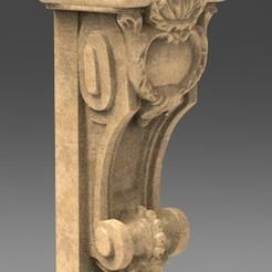 Architectural_Decoration_01_KEY.jpg Download free OBJ file Architectural Decorative Corbel 3D Model • 3D printable design, DavidG7