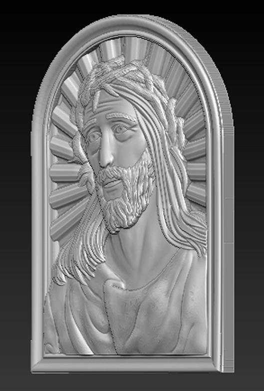 Face_of_Christ_02.jpg Télécharger fichier STL gratuit Visage du Christ 3D Relief • Modèle à imprimer en 3D, DavidG7