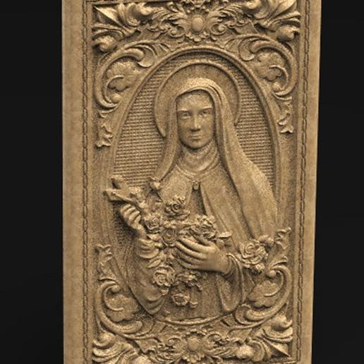 Download free OBJ file Saint Therese 3D Model • 3D printable model, DavidG7