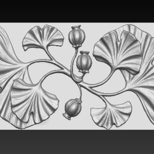 Decorative_Flowers_01.jpg Télécharger fichier OBJ gratuit Modèle 3D de panneau décoratif de fleurs • Design imprimable en 3D, DavidG7