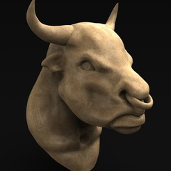 Download free 3D printer templates Bull Head 3D Model, DavidG7