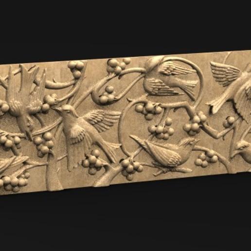 Télécharger fichier OBJ gratuit Panneau décoratif Oiseaux modèle 3D • Modèle pour imprimante 3D, DavidG7