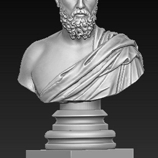 Roman_bust_02.jpg Download free OBJ file Roman Bust 3D Model • 3D print object, DavidG7