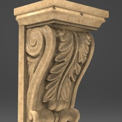 Download free 3D printing models Architectural Decorative Corbel 8 3D Model, DavidG7