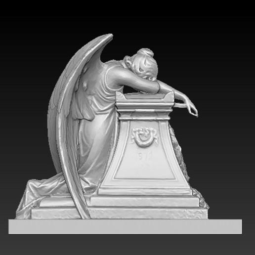 Angel_01.jpg Download free OBJ file Angel Statue 2 3D Model • 3D printer template, DavidG7