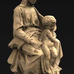 Download free OBJ file Madonna Sculpture 3D Model • 3D printer model, DavidG7