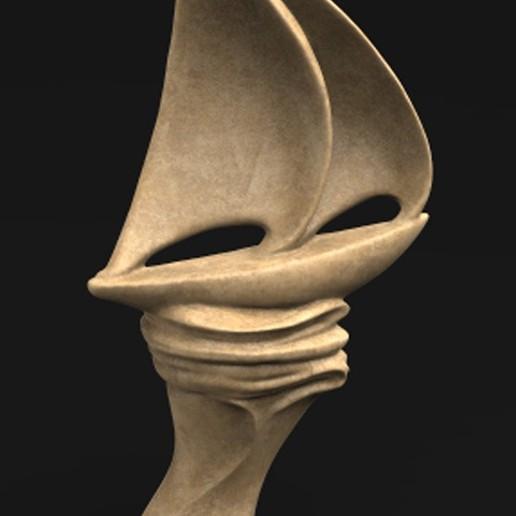 Télécharger fichier OBJ gratuit Sculpture de bateau à voile Modèle 3D décoratif • Objet à imprimer en 3D, DavidG7